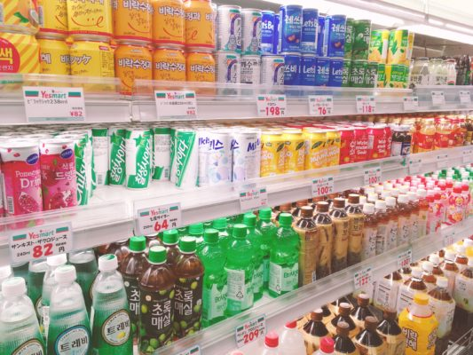 韓国のジュース飲料